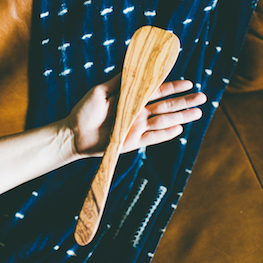 Fair Trade Olive Wood Spatula