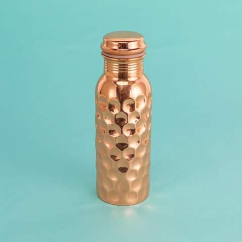Copper Water Bottle - GlobeIn