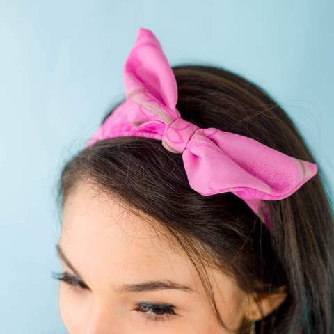 Upcycled Sari Headband with Bow - GlobeIn