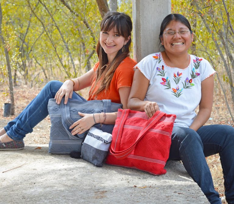 Pamela with Marina in Mexico