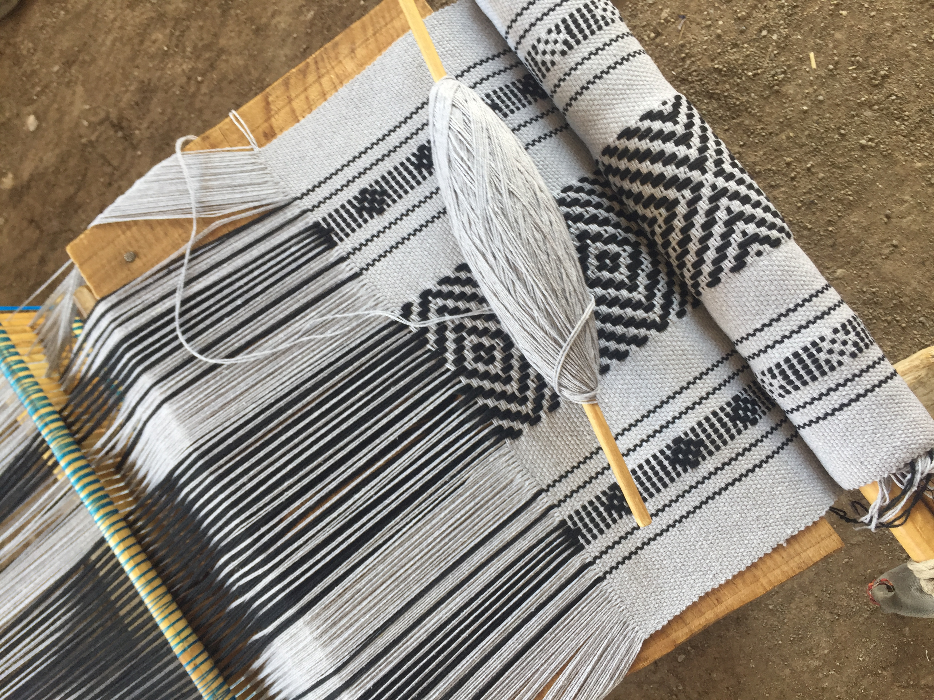 traditional mexican backstrap loom weaving