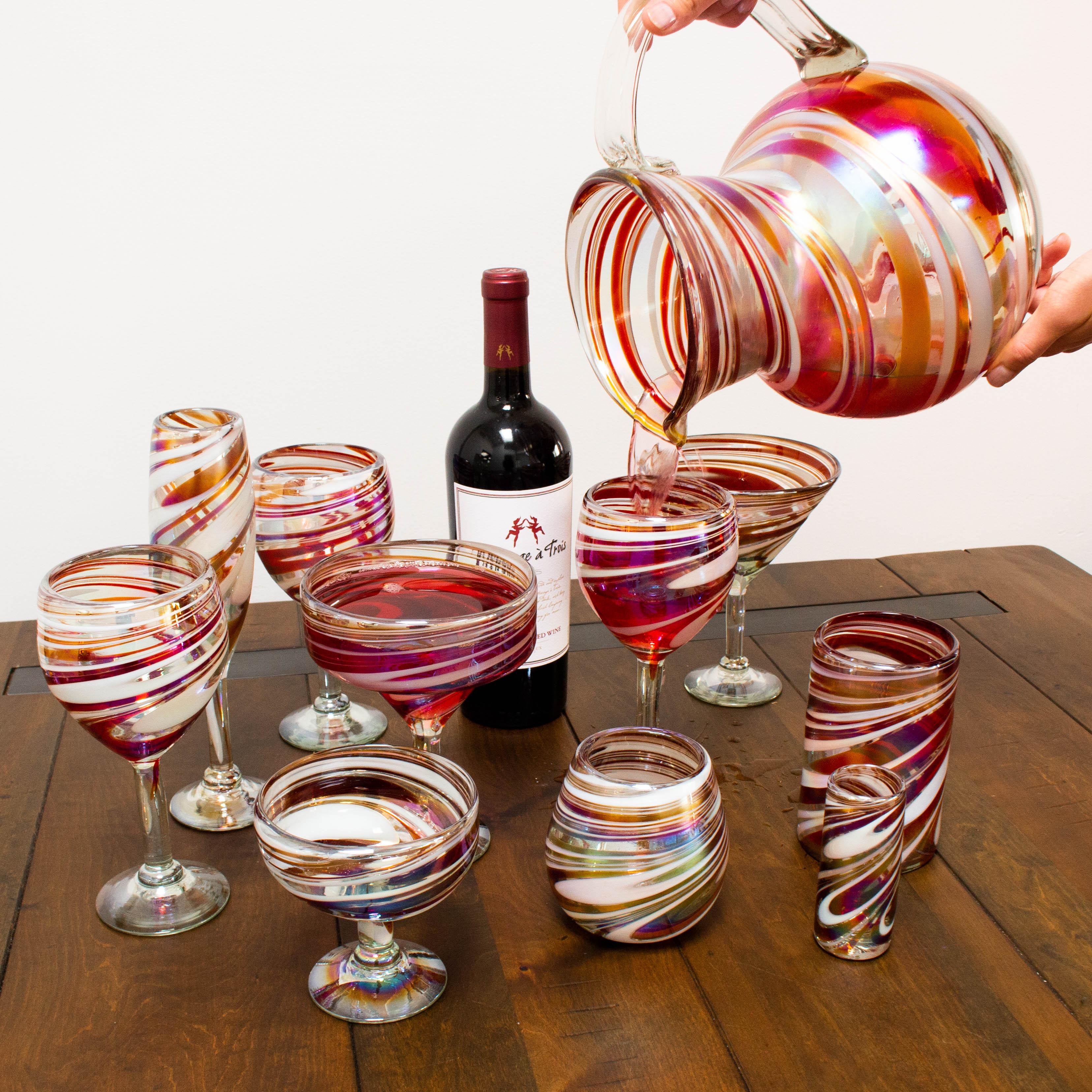 Festive swirl pitcher