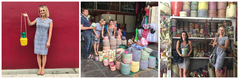 woven palm leaf baskets oaxaca market