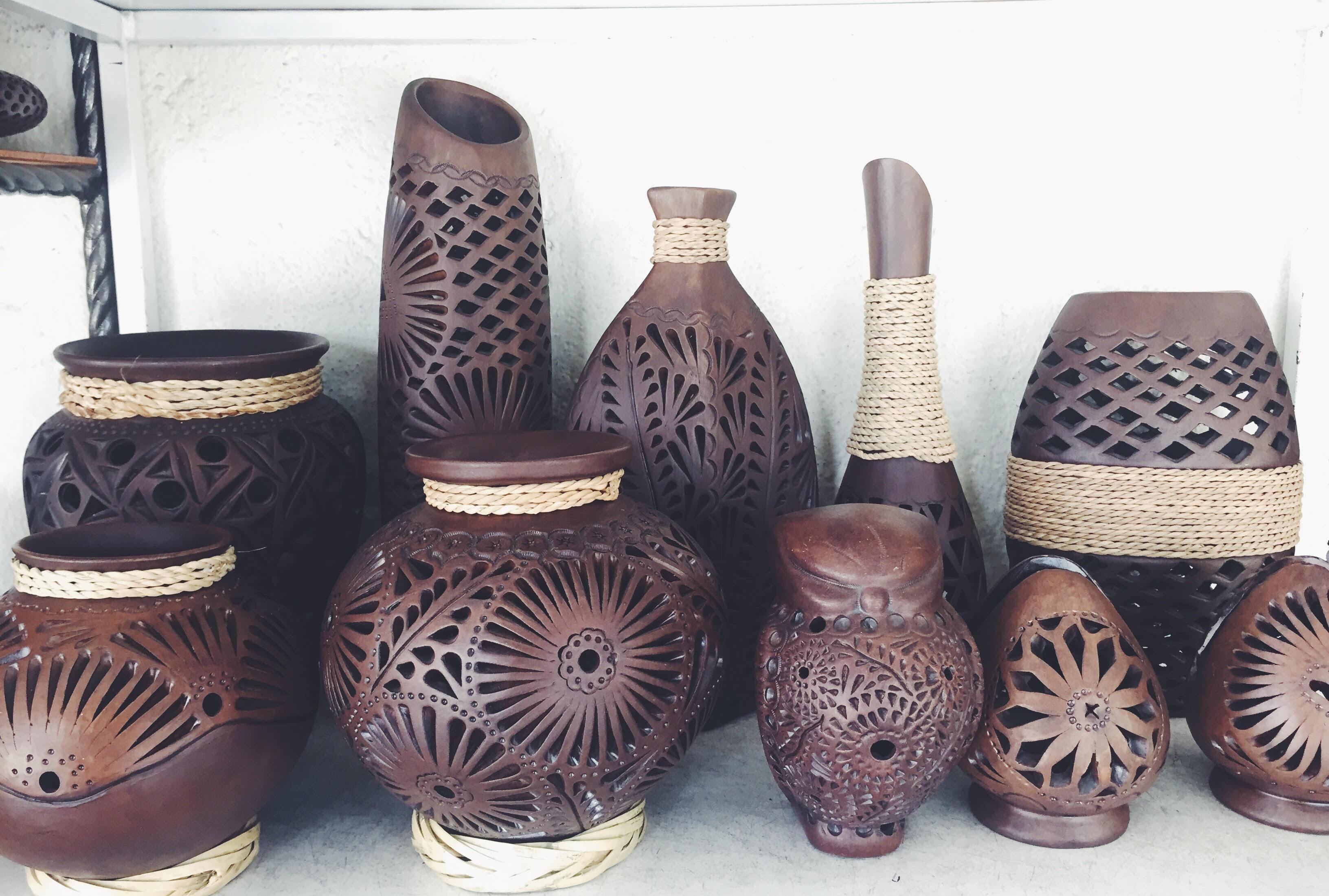 black clay pottery Oaxaca