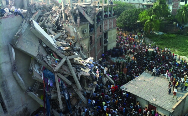 Rana Plaza Aftermath. Photo from International Labor Rights Forum.